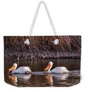 To Pelicans Trolling For Fish Weekender Tote Bag