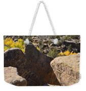 Top Of Rocks Above Canyon In Fall Weekender Tote Bag