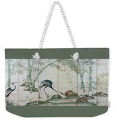 Top Quality Art - Cranes Pines And Bamboo Weekender Tote Bag