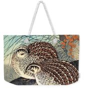 Top Quality Art - Moon And  Quail Weekender Tote Bag