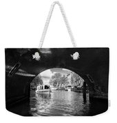 Tourboat On Amsterdam Canal Weekender Tote Bag