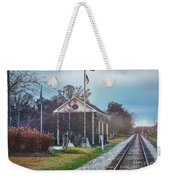 Train Tracks To Old Town Weekender Tote Bag