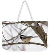 Tranquil Winter Chickadee Weekender Tote Bag