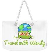 Travel With Wendy Weekender Tote Bag