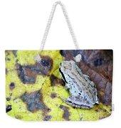 Tree Frog On Yellow Leaf Weekender Tote Bag