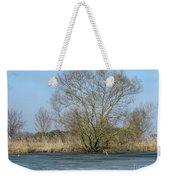 Tree On Frozen Lake Weekender Tote Bag