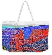 Trees Plateau Valley Color 2871ado National Monument  Weekender Tote Bag
