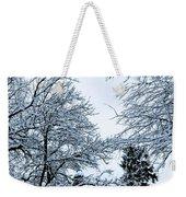 Trees With Snow Weekender Tote Bag