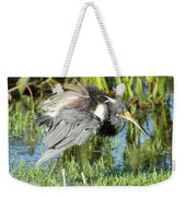 Tricolored Heron With Ruffled Feathers Weekender Tote Bag