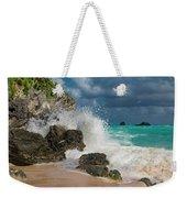 Tropical Beach Splash Weekender Tote Bag