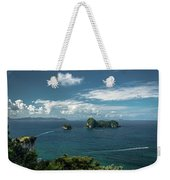 Tropical Island In The Ocean Weekender Tote Bag