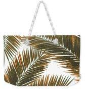 Tropical Palm Leaf Pattern 6 - Tropical Wall Art - Summer Vibes - Modern, Minimal - Brown, Copper Weekender Tote Bag