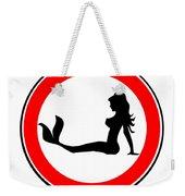 Trucker Mermaid Road Sign Weekender Tote Bag