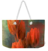 Tulips With Green Background Weekender Tote Bag