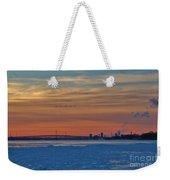 Tundra Swan Niagara Sunset Weekender Tote Bag