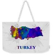 Turkey, Map, Artist Singh Weekender Tote Bag