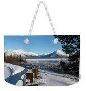 Turnagain Arm And Chugach Range From Sunrise Alaska Weekender Tote Bag