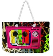 Tv Madonna On Air On Barcelona Walls  Weekender Tote Bag