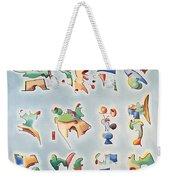 Twelve Glyphs Weekender Tote Bag