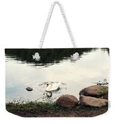 Twilight Swan Weekender Tote Bag