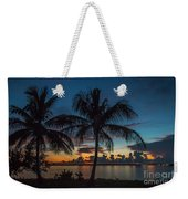 Twin Palms Sunrise Weekender Tote Bag by Tom Claud