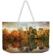 Twin Pond Reflections Weekender Tote Bag