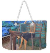 Two Boats In The Night Weekender Tote Bag