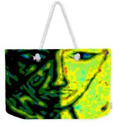Two Faces - Green - Female Weekender Tote Bag