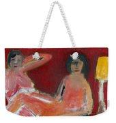 Two Nudes By A Lamp Weekender Tote Bag