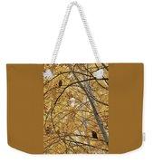 Two Owls In Autumn Tree Weekender Tote Bag