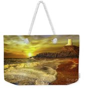 Twr Mawr Lighthouse Sunset Weekender Tote Bag