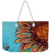Sunflower With Bee Weekender Tote Bag by Jacqueline Athmann