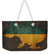 Ukraine Country Flag Map Weekender Tote Bag