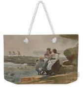 Under The Cliff, Cullercoats , 1881 Weekender Tote Bag