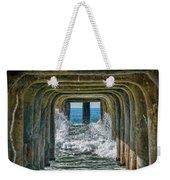 Under The Pier Manhattan Weekender Tote Bag by Michael Hope