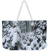 Under The Snow Weekender Tote Bag