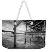 Uner The Pier In Black And White Weekender Tote Bag