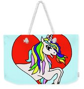 Unicorn In The Heart On Baby Blue Kids Room Decor Weekender Tote Bag