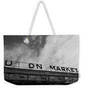 Union Market The Original Sign Washington Dc Weekender Tote Bag by Edward Fielding