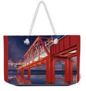 Union Railroad Bridge - Riverwalk Weekender Tote Bag by Clint Hansen