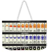 United States Armed Forces Enlisted Rank Insignia Weekender Tote Bag