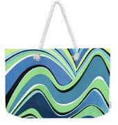 Untitled  Abstract Blue And Green Weekender Tote Bag
