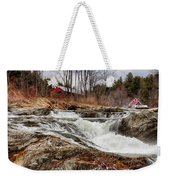 Upper Cox Brook Fall Covered Bridge Weekender Tote Bag