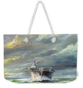 Uss Enterprise Returns To Pearl Weekender Tote Bag