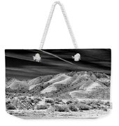 Valley Of Fire Black White Nevada  Weekender Tote Bag