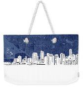 Vancouver Skyline Map Blue Weekender Tote Bag
