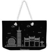 Vancouver Skyline Travel Poster Weekender Tote Bag