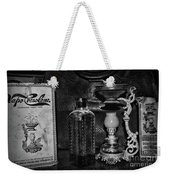 Vapo-cresolene Vaporizer And Bottle Respiratory Remedy Black And White Weekender Tote Bag