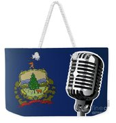Vermont Flag And Microphone Weekender Tote Bag