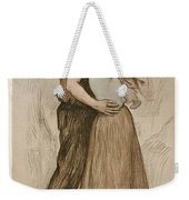 Victor Emile Prouve  French  1858   1943 The Kiss  Le Baiser  1898  Collotype On Wove Paper Weekender Tote Bag